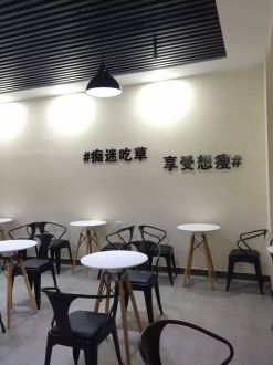 正义坊南馆三楼咖啡厅100平装修案例