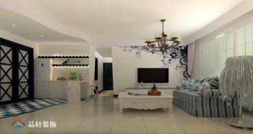 玉兰公寓地中海风格110平装修案例