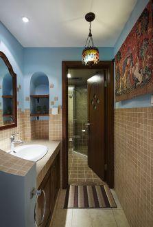 美新玫瑰莊園量房美式風格家裝美式衛生間效果圖