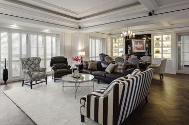 160平新美式惊艳装修美式客厅效果图