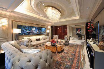 华侨城时尚混搭风格全包复式住宅装修