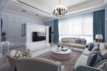 兆丰嘉园二期时尚混搭风格半包公寓装修