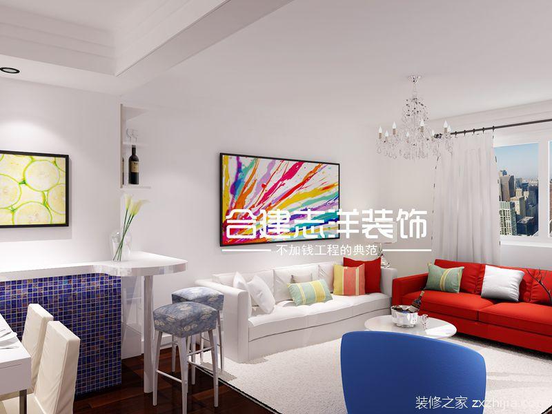 新源时代简约风格全包三居室装修