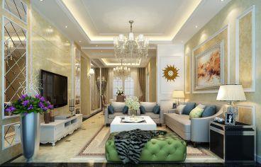尚锦城欧式古典客厅效果图