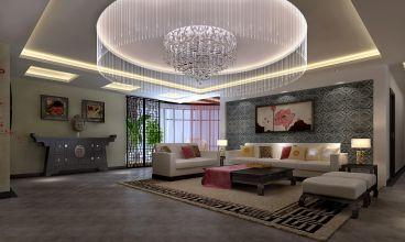紫檀小区150平新中式三居室家装