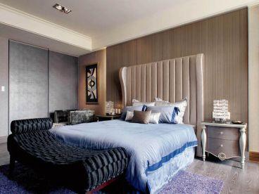 京津新城现代简约卧室效果图
