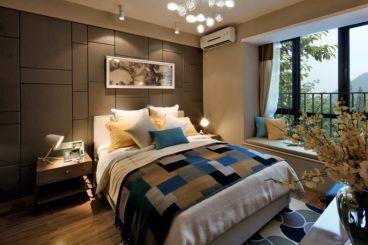 新奥洋房现代简约卧室效果图