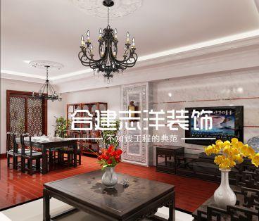 阳光上东8号新中式风格半包别墅装修