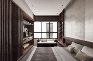 苏宁悦城新中式风格卧室效果图