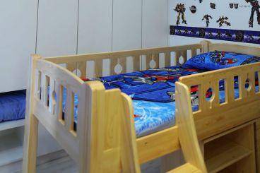 建业桂圆时尚混搭儿童房效果图