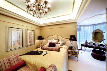仁恒河滨花园欧式古典卧室效果图