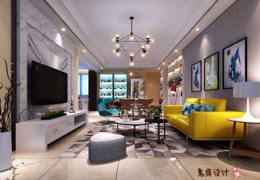 保利温泉时尚混搭风格全包三居室装修