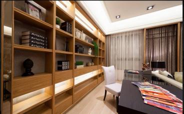 中国铁建国际花园日式书房效果图