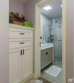 美式混搭现代美式卫生间效果图