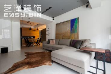 中海国际现代简约客厅效果图