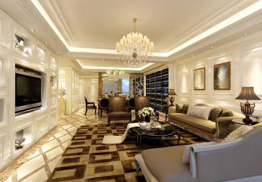 中港城欧式古典风格半包110平装修