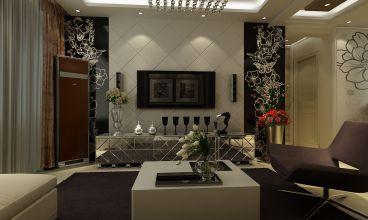 中海国际简欧客厅效果图