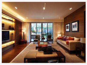福龙湾新中式客厅效果图