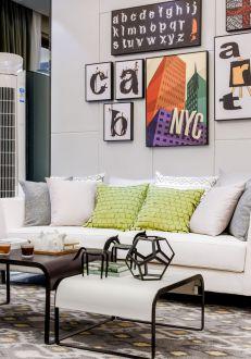 怡康新寓现代简约客厅效果图