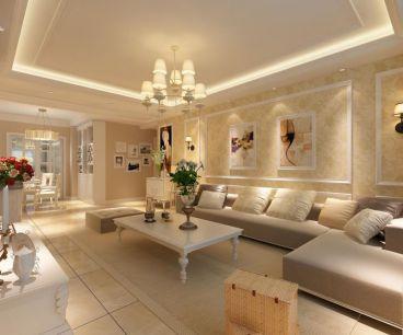大河宸章现代简约三室二厅装修效果图