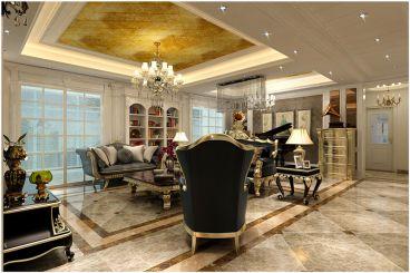 莱蒙湖欧式古典客厅效果图