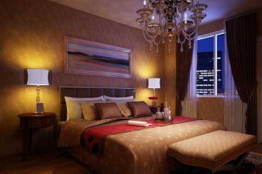 孔雀城中式卧室效果图