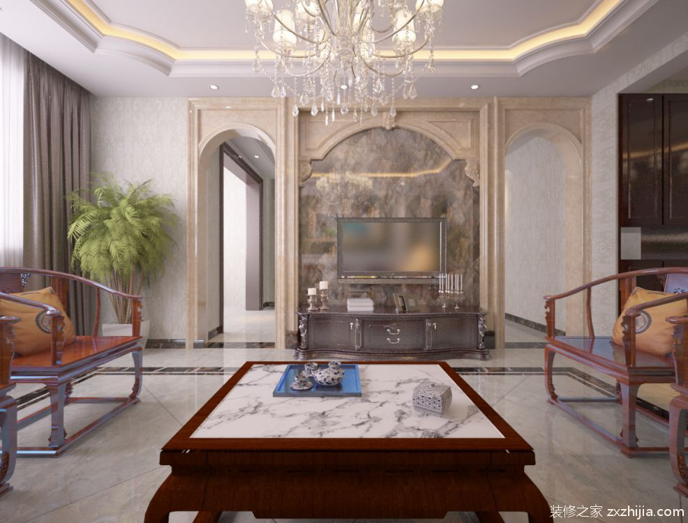 北海公馆简约风格全包三居室装修