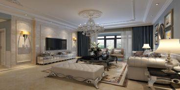 银基王朝156平四室两厅时尚简欧风案例赏