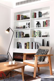 现代简约书房效果图