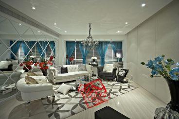 金港广场简约风格全包三居室公寓装修
