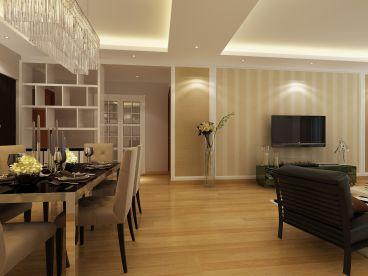 广福城现代风格全包120平装修