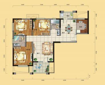 龙阳1号简欧风格半包住宅装修效果图