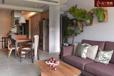 花园路小区现代简约客厅效果图
