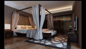 国富沙磁巷新中式卧室效果图