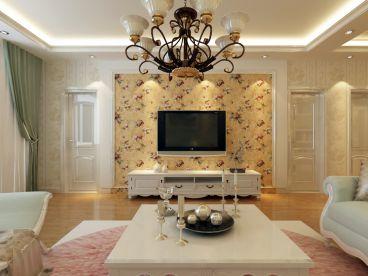 安顺东区简欧风格全包三居室装修