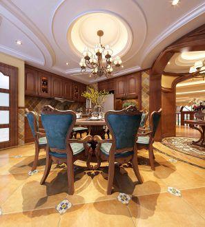 赋海世家美式风格全包三居室装修