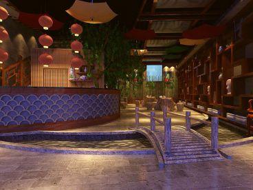 滨海茶餐厅新中式风格设计效果图