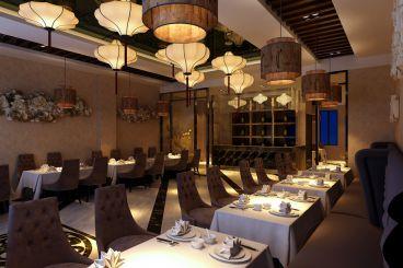 深航翡翠城海鲜酒店复古中式装潢