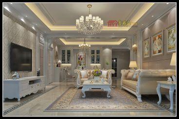 半岛苑欧式风格半包住宅装修