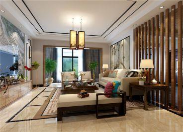观山小区中式风格新中式客厅效果图