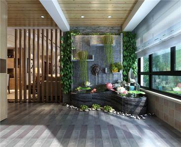 觀山小區中式風格新中式花園效果圖