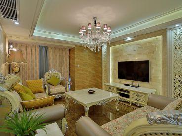 苏宁睿城·欧式古典客厅效果图