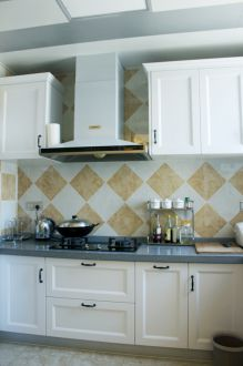 蔚藍觀邸現代簡約廚房效果圖