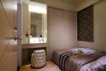 中海誉城新中式卧室效果图