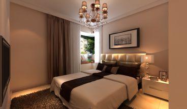 福美国际现代简约卧室效果图