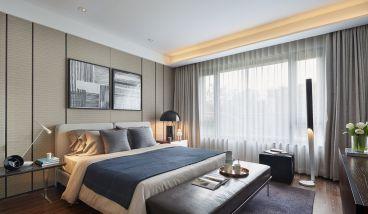 长江国际新中式卧室效果图