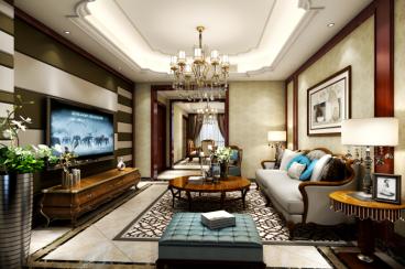 城上城二期美式风格半包公寓140m²效果