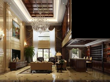 宝丽清石嘉苑欧式古典客厅效果图