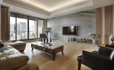景绣汉江现代简约客厅效果图
