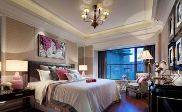 远洋万和城美式卧室效果图